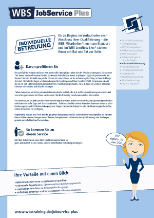 WBS-Jobservice Plus Individuelle Betreuung