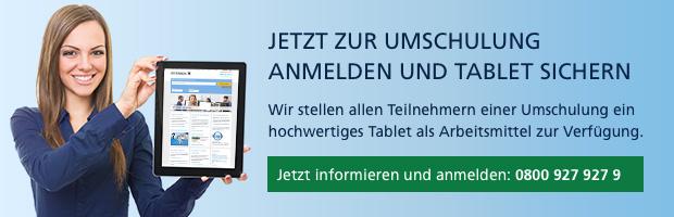 Tablet zu Umschulungen